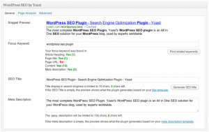 One of the best blogging tools, WordPress Seo.